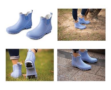 Gardenline Ladies' Garden Boots Blue Matte In Use