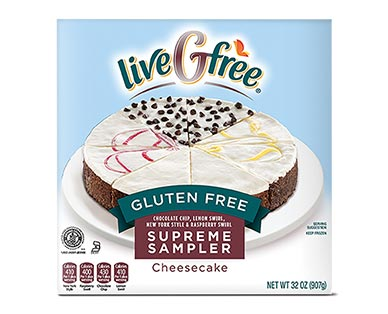 liveGfree Gluten Free Cheesecake Sampler