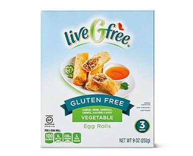 liveGfree Gluten Free Egg Rolls Vegetable