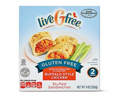 liveGfree Gluten Free Stuffed Sandwiches Buffalo Style Chicken