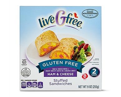 liveGfree Gluten Free Stuffed Sandwiches Ham & Cheese