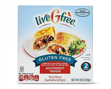liveGfree Gluten Free Stuffed Sandwiches Southwest Veggie