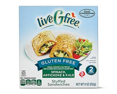 liveGfree Gluten Free Stuffed Sandwiches Spinach Artichoke & Kale