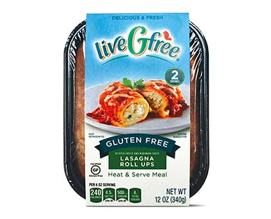 liveGfree Gluten Free Lasagna Roll-Ups