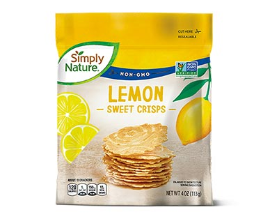 Simply Nature Sweet Crisps Lemon