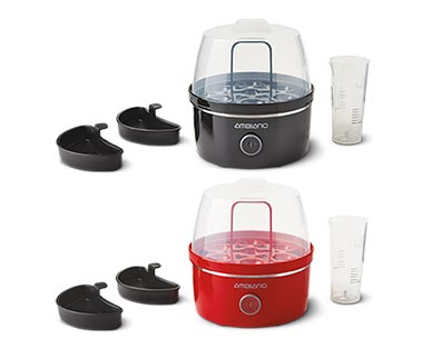 Ambiano Egg Cooker Black and Red View 2