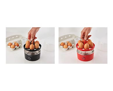Ambiano Egg Cooker Black and Red In Use