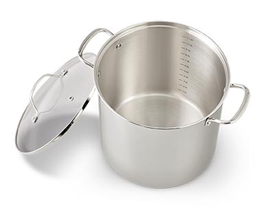 Crofton Chef's Collection 12-Quart Stainless Steel Stock Pot View 2