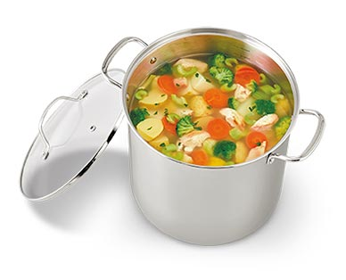 Crofton Chef's Collection 12-Quart Stainless Steel Stock Pot In Use