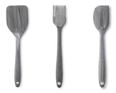 Crofton Mini Marble Utensils Spatula, Brush and Spoonula