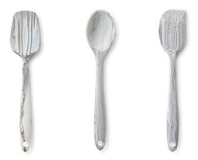 Crofton Mini Marble Utensils Turner, Spoon and Spatula