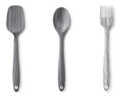 Crofton Mini Marble Utensils Turner, Spoon and Brush