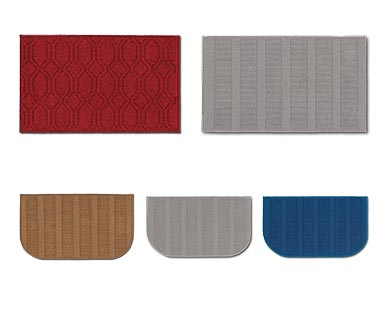 """Huntington Home 20"""" x 34"""" Kitchen Accent Rug Red, Gray, Blue and Tan View 2"""