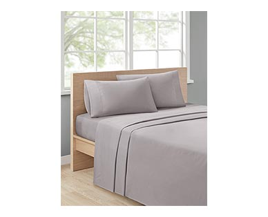 Huntington Home 500 Thread Count Anti-Allergen Sheet Set Gray In Use