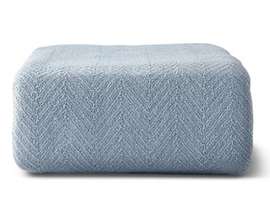 Huntington Home Full/Queen or King Cotton Blanket Blue