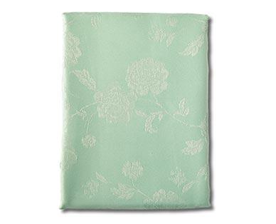 Huntington Home Jacquard Tablecloth Flower Teal