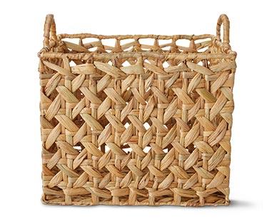 Huntington Home Open Weave Water Hyacinth Basket Rectangular