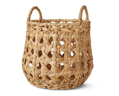 Huntington Home Open Weave Water Hyacinth Basket Round