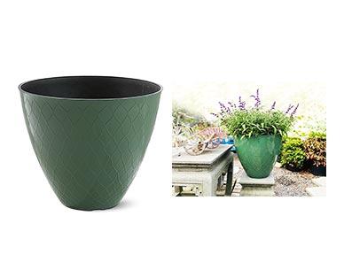 "Belavi 20"" Planter Hedge Green In Use"