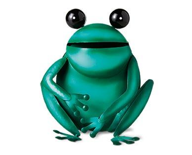Belavi Metal Garden Figurine Frog