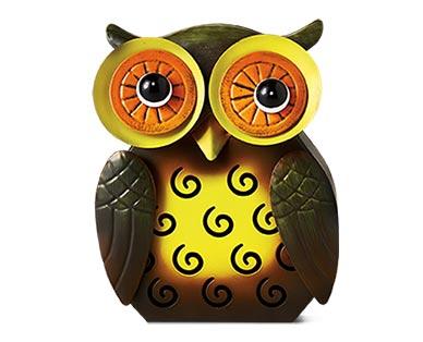 Belavi Metal Garden Figurine Owl