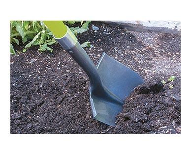 GardenlineLong Handle Garden Tool Round Shovel In Use