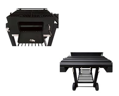 """Range Master Heavy-Duty 24"""" Deluxe Charcoal Grill View 2"""