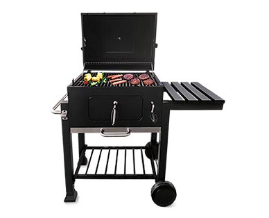 """Range Master Heavy-Duty 24"""" Deluxe Charcoal Grill In Use View 1"""