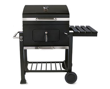 """Range Master Heavy-Duty 24"""" Deluxe Charcoal Grill View 3"""