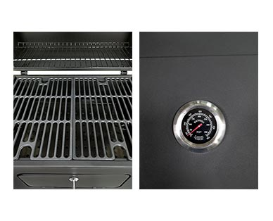 """Range Master Heavy-Duty 24"""" Deluxe Charcoal Grill View 4"""