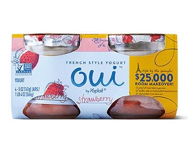 Oui Strawberry French Style Yogurt 4 pk