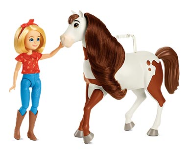 Spirit Movie Figures Doll and Horse View 1
