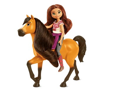 Spirit Movie Figures Doll and Horse View 2