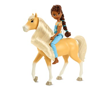 Spirit Movie Figures Doll and Horse View 3