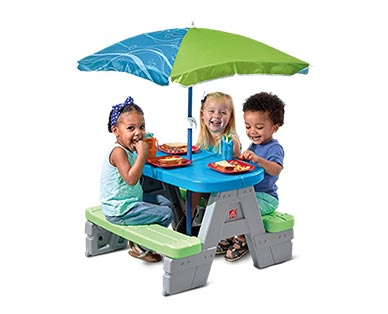 Step2 Sit & Play Picnic Table with Umbrella In Use View 1