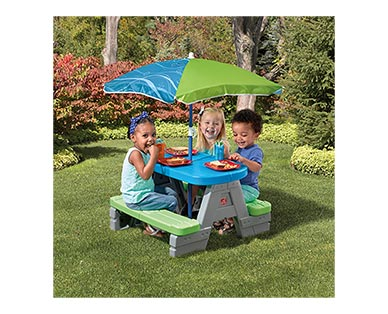 Step2 Sit & Play Picnic Table with Umbrella In Use View 2