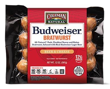 Budweiser Bratwurst Beer & Cheese