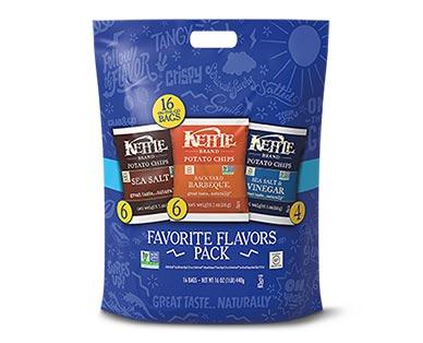 Kettle Brand Potato Chips Favorite Flavors Variety Pack
