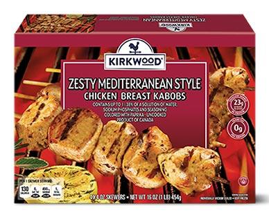Kirkwood Mediterranean Chicken Kabobs Zesty