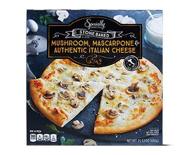 Specially Selected Authentic Italian Pizza Mushroom, Grana Padano & Mascarpone Sauce