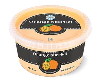 Sundae Shoppe Sherbet Quart Orange