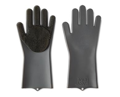 Easy Home Silicone Scrub Gloves Black