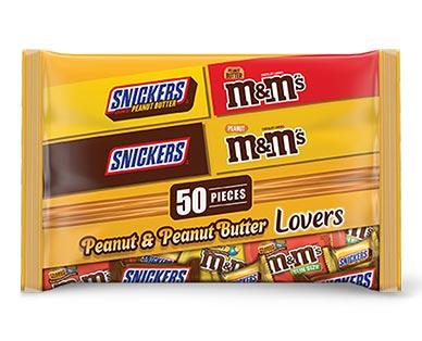 Mars Peanut & Peanut Butter Lovers Variety Mix 50 Pieces