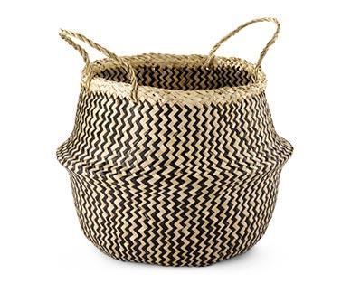 Huntington Home Pop-Up Basket Black Chevron