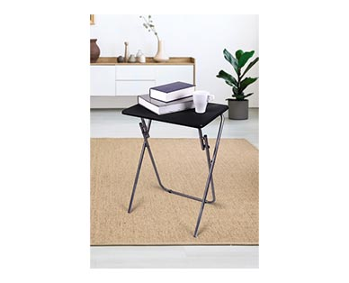 SOHL Furniture Folding Tray Table Black In Use