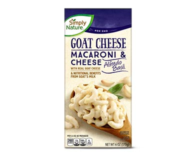 Simply Nature Goat Cheese Deluxe Macaroni & Cheese or Shells & Cheese Alfredo Basil