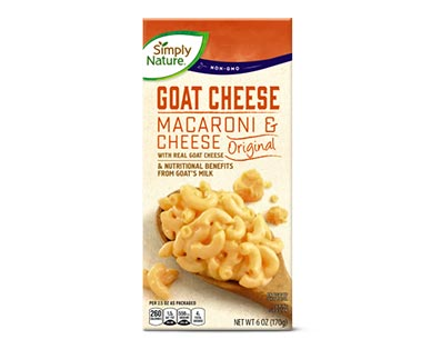 Simply Nature Goat Cheese Deluxe Macaroni & Cheese or Shells & Cheese Original