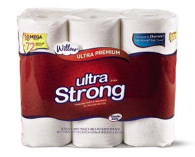 Willow 18 Mega Roll Ultra Strong Bath Tissue