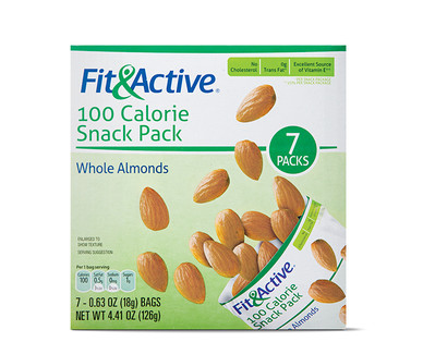 Fit and Active 100 Calorie Snack Pack Whole Almonds