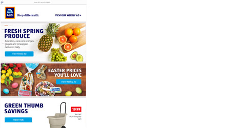 Image of email from ALDI